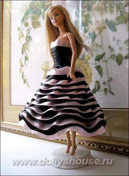 Как сшить платье из атласной ленты 520